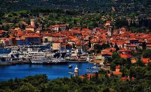 Přístav Cres na ostrově Cres v Chorvatsku