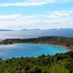 Kempy a pláže na ostrově Murter